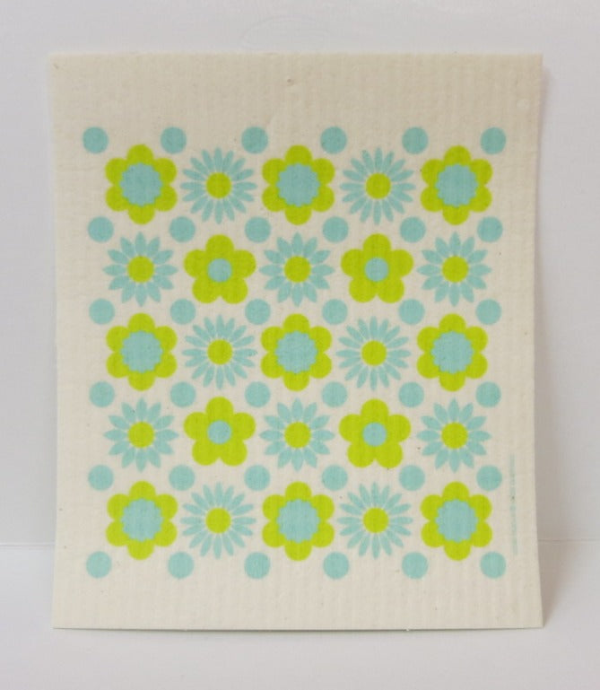 Vintage Floral Swedish Dishcloth