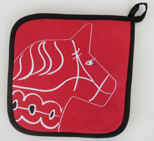 Red Dala Pot Holder