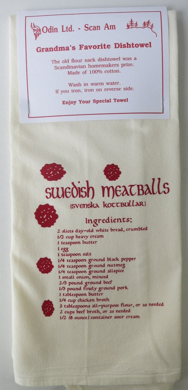 Grandma's Favorite Dishtowel - Swedish Meatballs