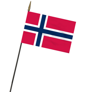 "Norwegian Flag on Stick - 8""x12"""