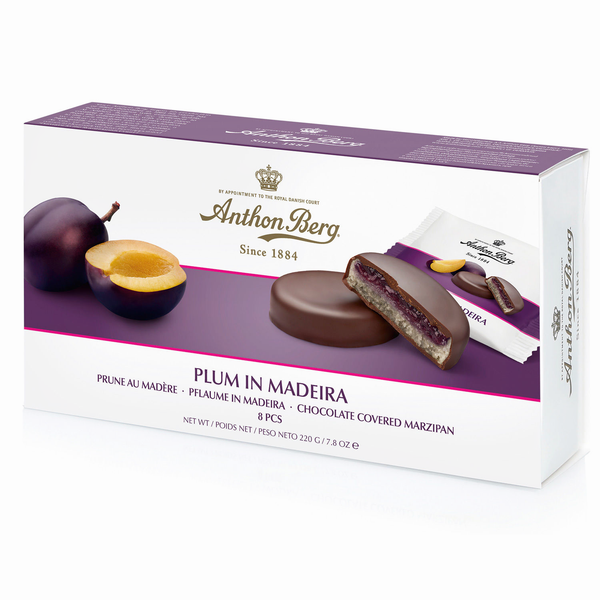 Plum in Madeira Marzipan Chocolates