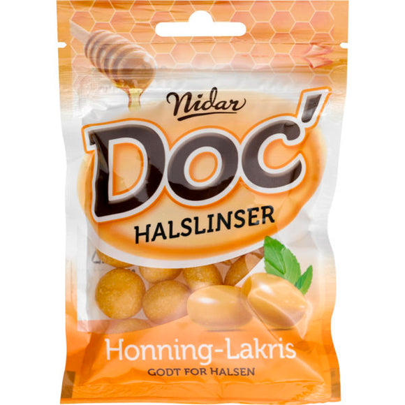 NIDAR of Norway - Doc' Halslinser Honning-Lakris