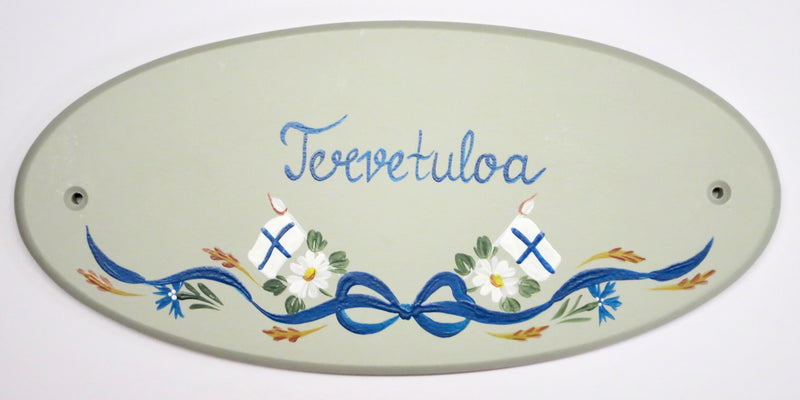 Tervetuloa Finnish Wall Decal (Hand-Painted)