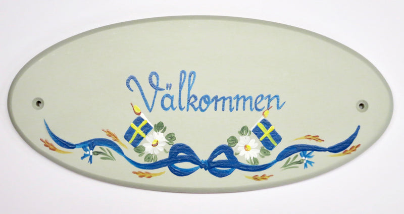 Välkommen Swedish Wall Decal (Hand-Painted)