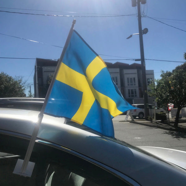 Swedish Car Flag
