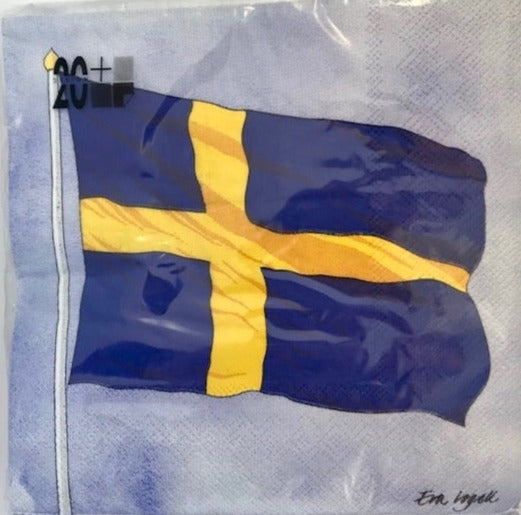 Swedish Flag (Waving) Napkin - Luncheon/Dinner