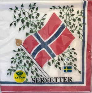Norwegian Flag Napkin - Luncheon/Dinner