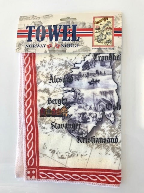 "Kitchen Towel - ""Norge"""