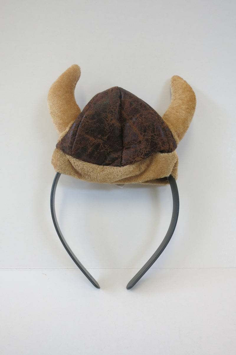 Faux Leather Viking Helmet Handband