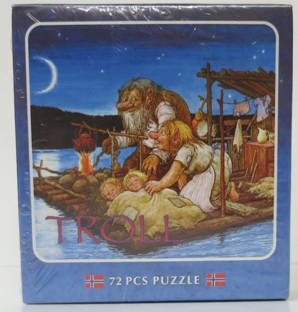 Trolls Crossing River at Night Puzzle