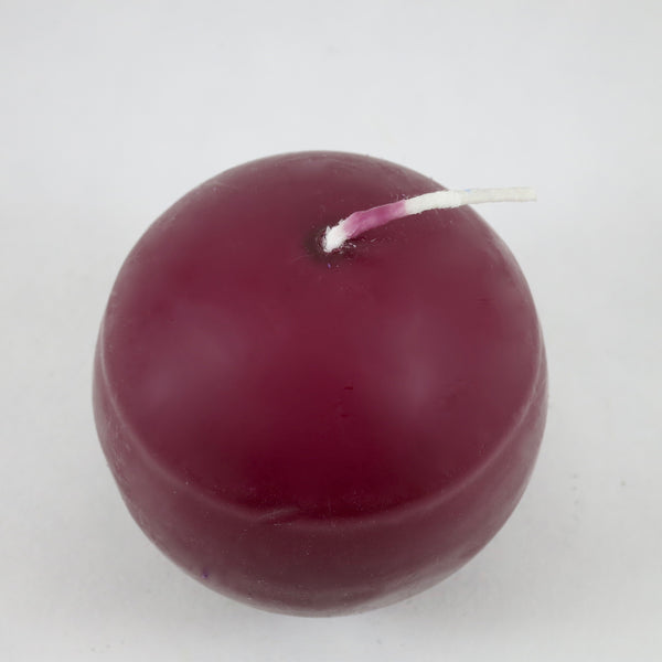 "2.5"" Wine - Ball Candles from Denmark (PACK OF 4)"