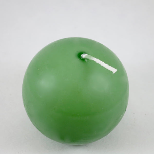 "2.5"" Fern Green - Ball Candles from Denmark (PACK OF 4)"
