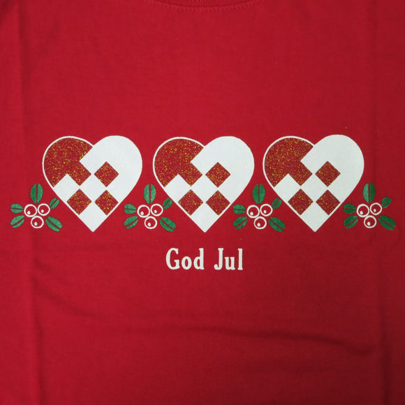 God Jul Hearts - T Shirt