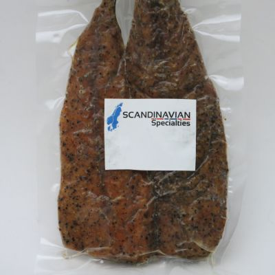 Smoked Peppered Mackerel Fillets- order per pkg (approx 1/4 lb) (PERISHABLE)