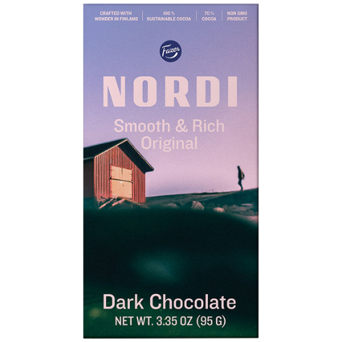 "Fazer Nordi ""Smooth & Rich, Original"" Dark Chocolate"