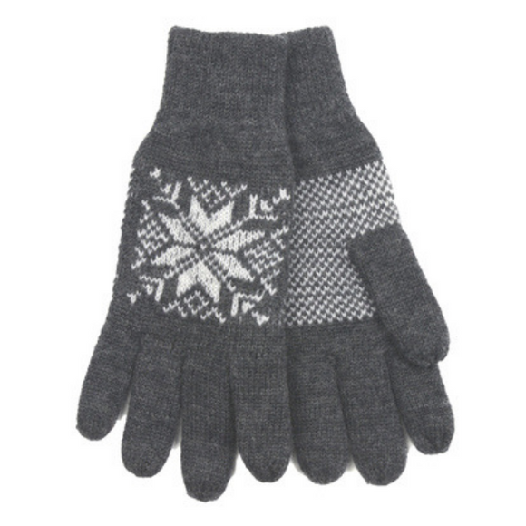 Snowflake Gloves (Grey) by Norlender