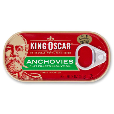 Anchovies, Flat Fillets in Olive Oil (2 oz)