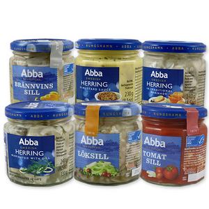 Abba Herring, Glass Jar 8.5 oz
