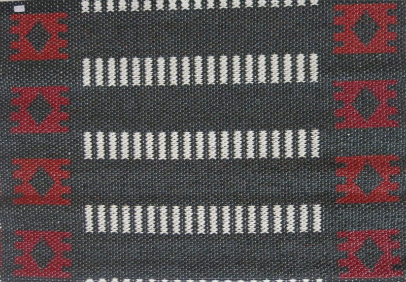 Black/Red Floor Mat