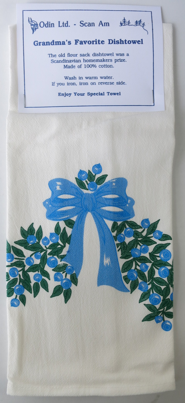 Grandma's Favorite Dishtowel - Bilberry Garland