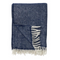 """Chevron, Dark Denim"" - Eco Woven Wool Throw"