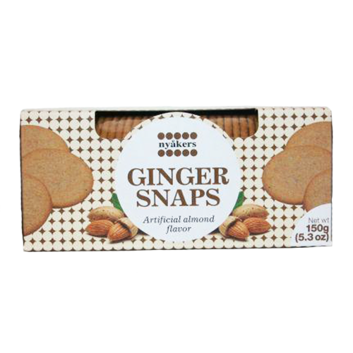 Swedish Ginger Snaps, Almond (5.3oz)
