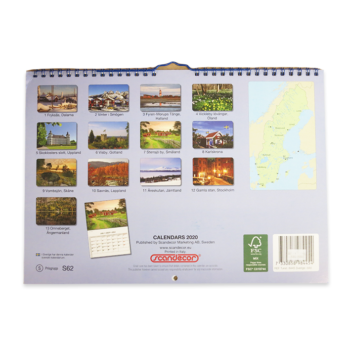 Sverige I Bild, Beautiful Sweden, 2020 Calendar