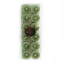 Danish Tea Light Candles, Pack of 12 (Green)