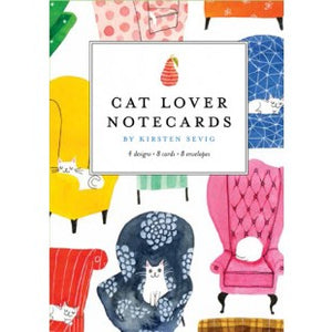 Cat Lovers Notecards by Kirsten Sevig
