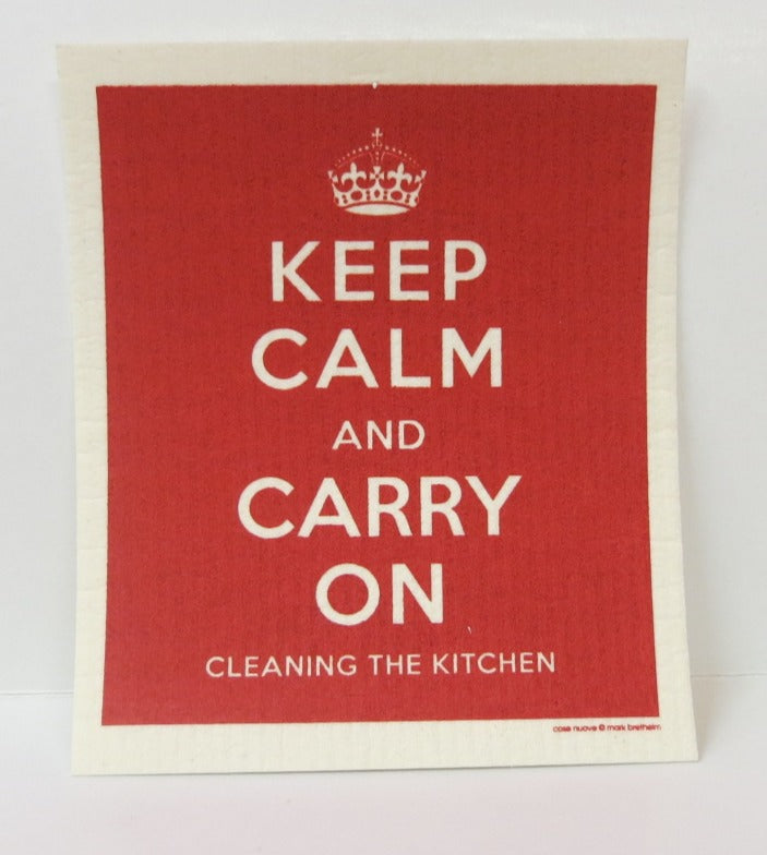 """Keep Calm"" Swedish Dishcloth"