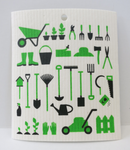 """Garden Tools"" Swedish Dishcloth"