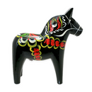Swedish Dala Horse, Black