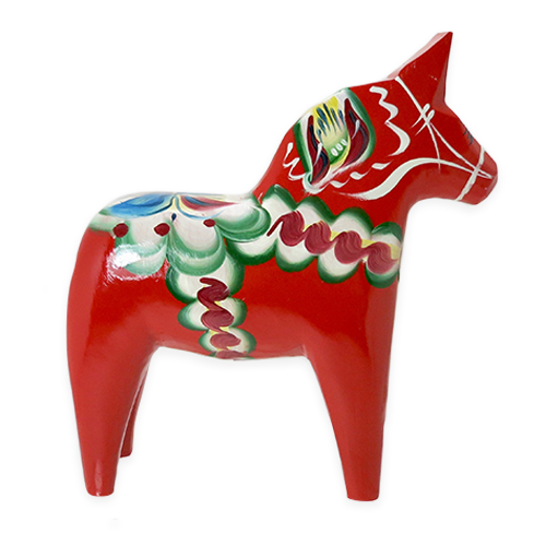 Swedish Dala Horse, Red
