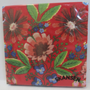 Floral Pattern on Red Background  - Luncheon/Dinner Napkins