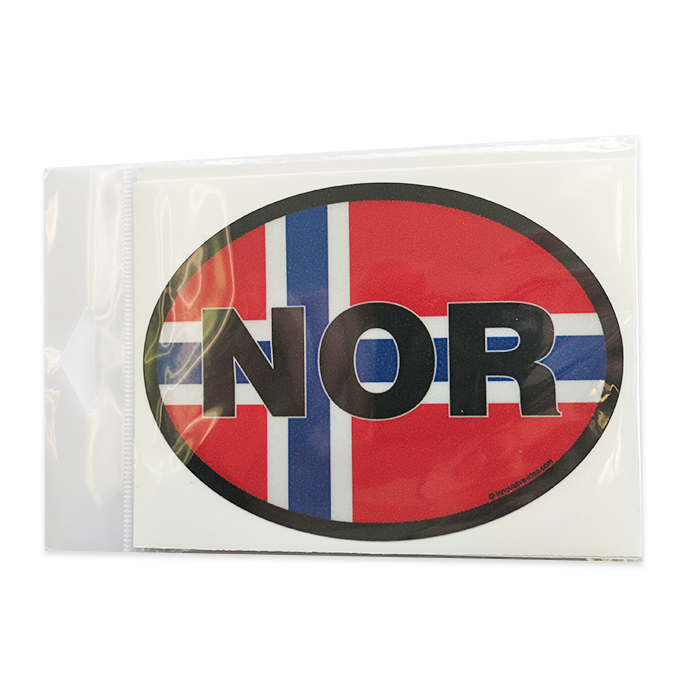 Oval Decal - Norwegian Flag