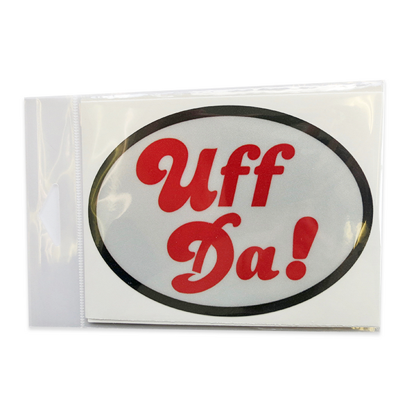 Oval Decal - Uff Da