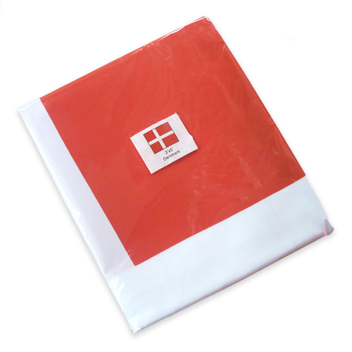 Danish Flag 3'x5'- Indoor (Polyester Material)