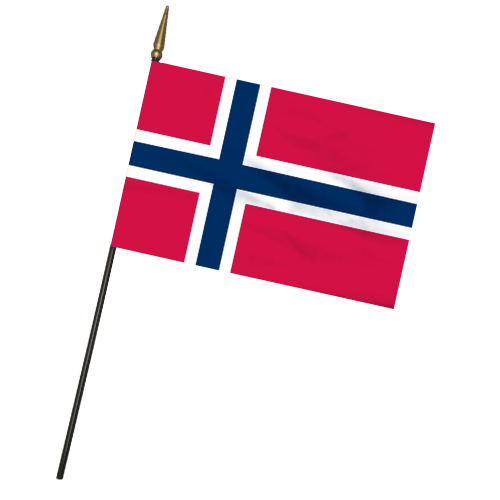 "Norwegian Mini Flag - 4""x6"""