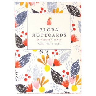 Flora Notecards by Kirsten Sevig