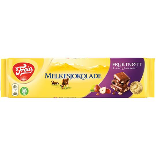 Freia Fruktnøtt, Milk Chocolate with Fruits and Nuts (200g)