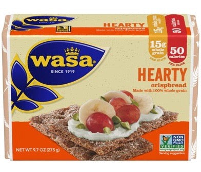 Wasa Hearty Rye from Sweden, 8.8 oz