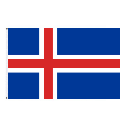 Icelandic Flag 3'x5'- Indoor (Polyester Material)