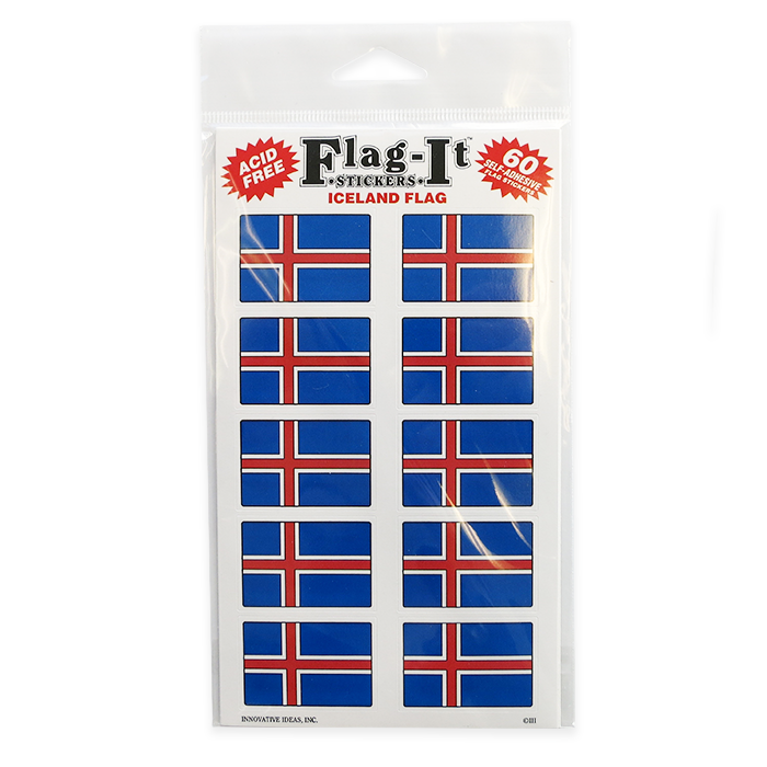 Icelandic Flag Sticker (50)