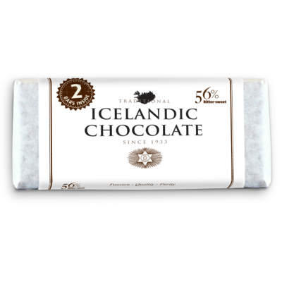 Icelandic Chocolate, 56% Bitter-Sweet