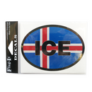 Oval Decal - Icelandic Flag