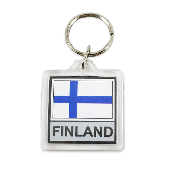 Finnish Flag Keychain