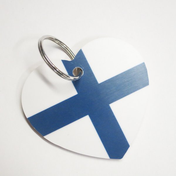 "Heart Keychain ""Finnish"""