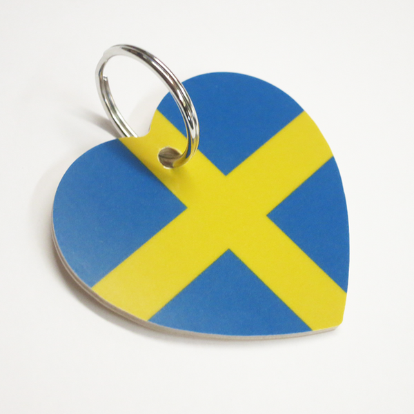 "Heart Keychain ""Swedish"""