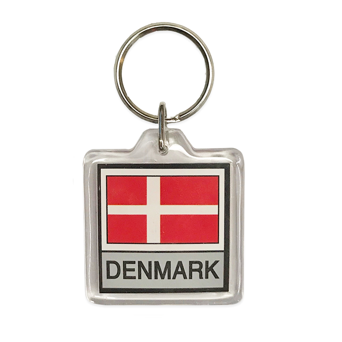 Danish Flag Keychain