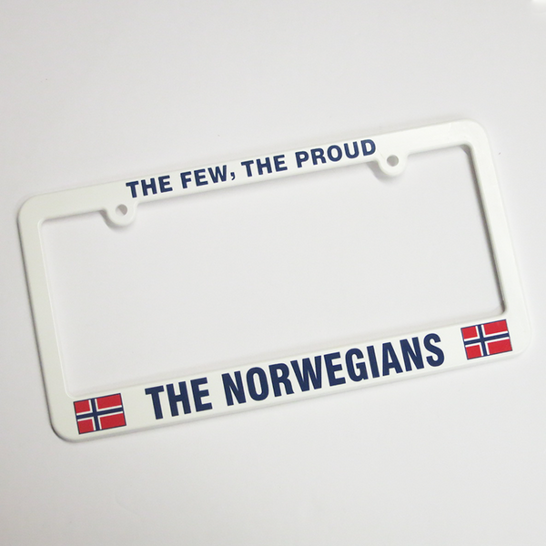 """The Few, The Proud, the Norwegians"" License Plate Holder"